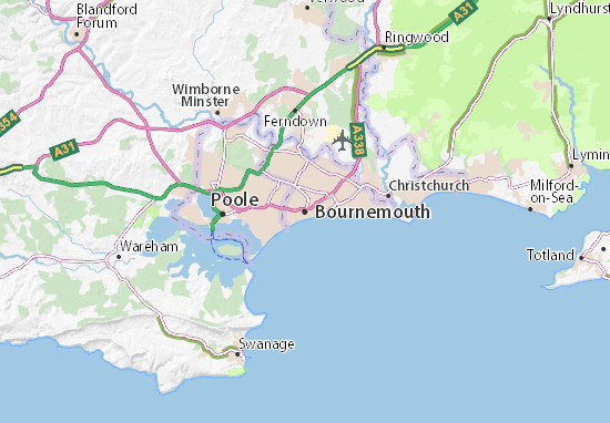 Carte-Plan Bournemouth