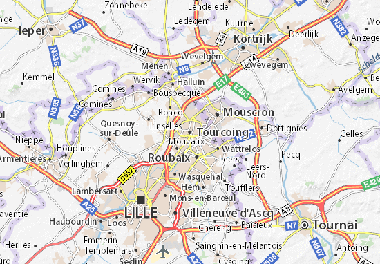 Carte-Plan Tourcoing