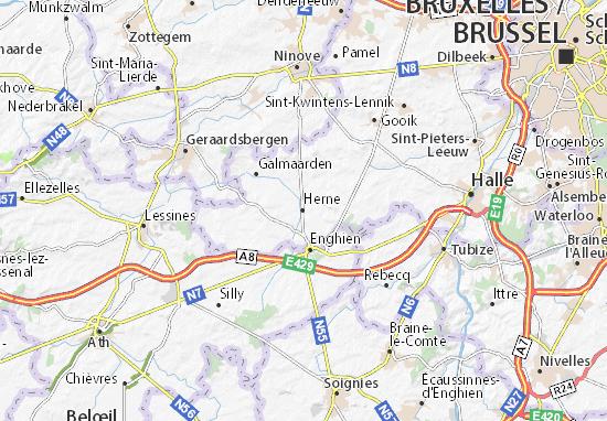 Herne Karte.Karte Stadtplan Herne Viamichelin