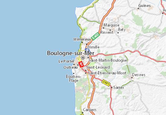 Kaart Plattegrond Boulogne-sur-Mer