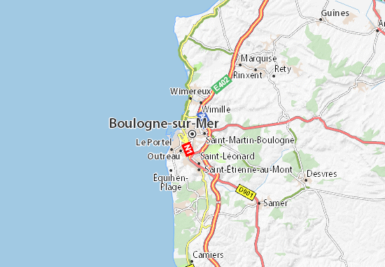 Carte-Plan Boulogne-sur-Mer