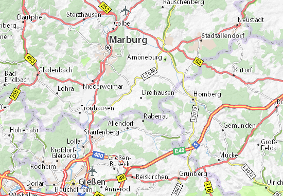Karte Stadtplan Dreihausen