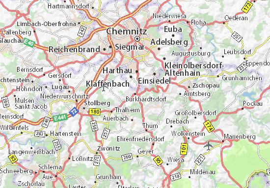 Burkhardtsdorf Map