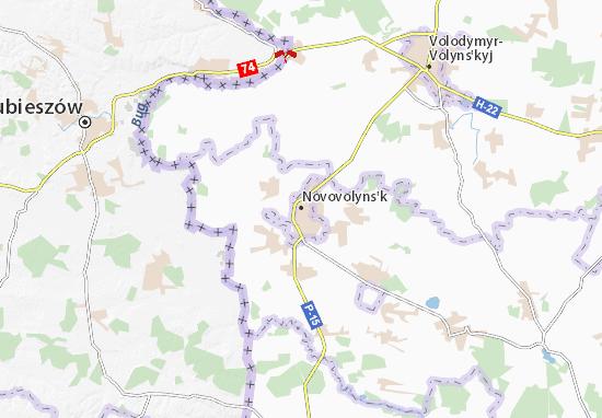 Kaart Plattegrond Novovolyns'k