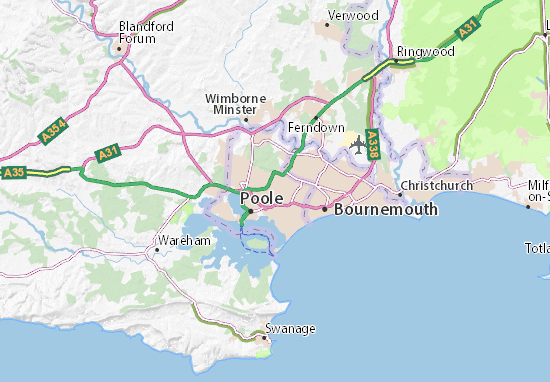 Map Of Poole Parkstone Map: Detailed maps for the city of Parkstone   ViaMichelin