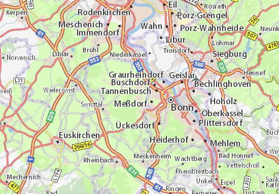 Karte Stadtplan Alfter