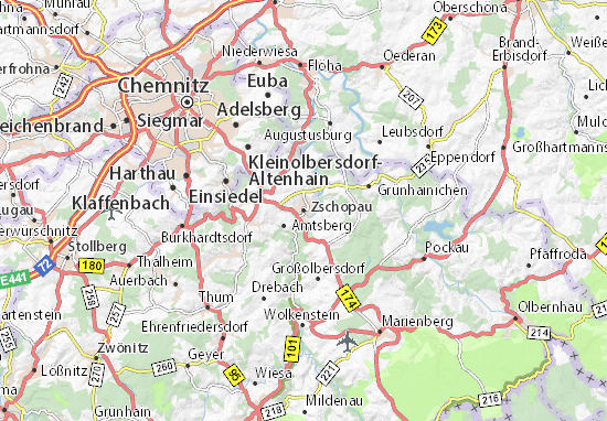 Carte-Plan Zschopau