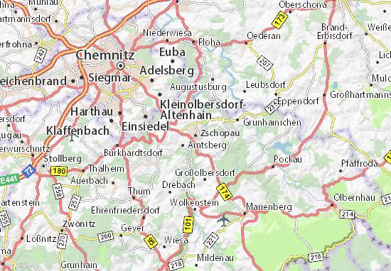 Zschopau Map