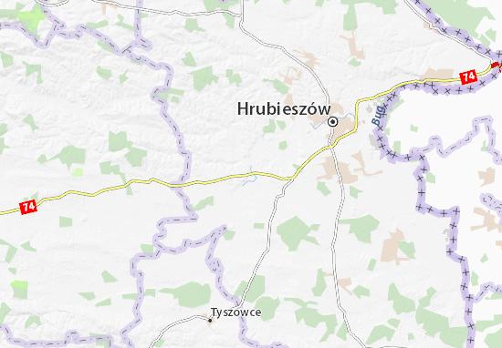 Werbkowice Map