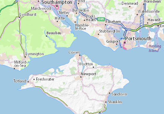 East Cowes Map