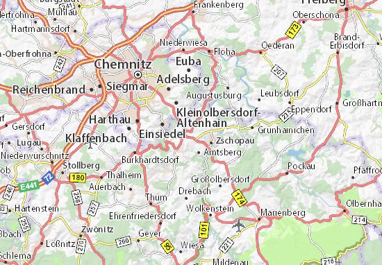 Carte-Plan Gornau