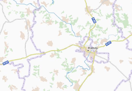 Mapa Plano Dovhopolivka