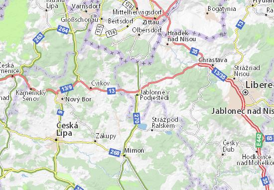 Mappe-Piantine Jablonné v Podještědí