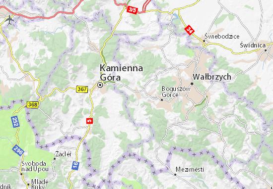 Mapa Czarny Bór