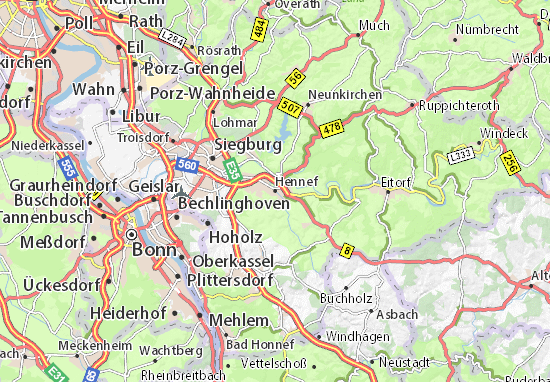 Carte-Plan Hennef