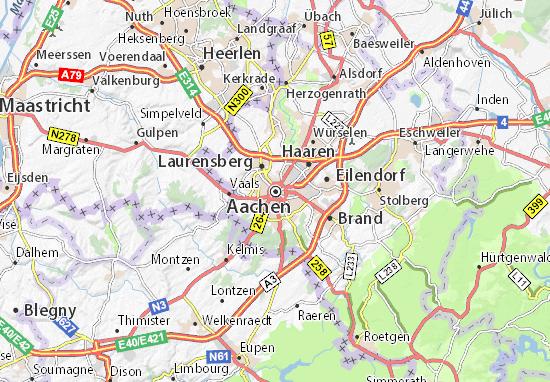Kaart Plattegrond Aachen