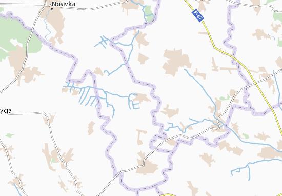 Mapa Plano Rivchak-Stepanivka