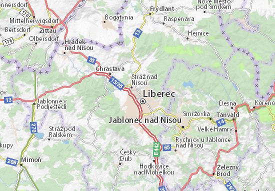 Carte-Plan Liberec