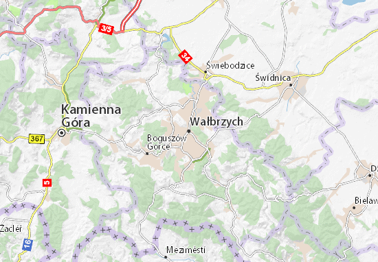 Karte Stadtplan Wałbrzych