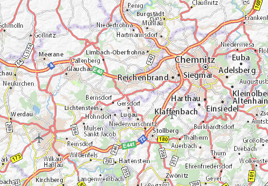 Oberlungwitz Map
