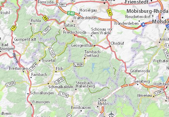 Carte-Plan Tambach-Dietharz