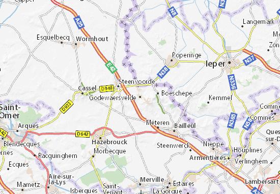 Carte-Plan Godewaersvelde