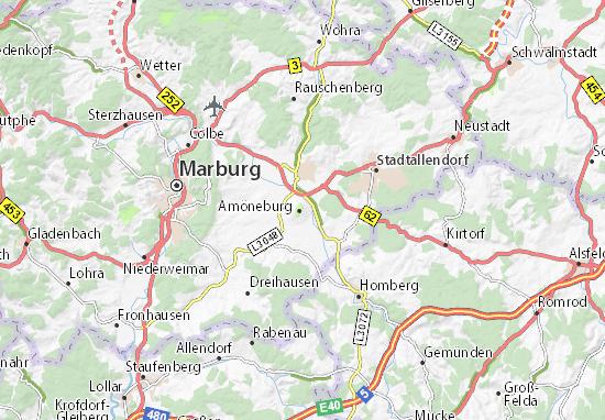 Karte Stadtplan Amöneburg