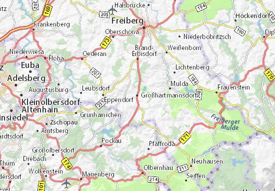 Karte Stadtplan Großhartmannsdorf