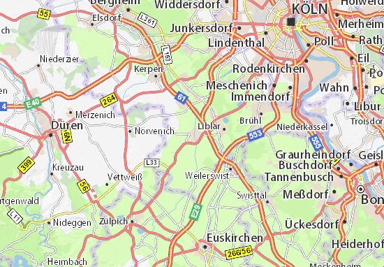 Köln Karte Deutschland.Karte Stadtplan Erftstadt Viamichelin