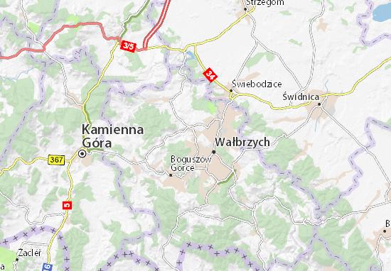 Karte Stadtplan Szczawno-Zdrój