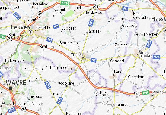Karte Stadtplan Tienen