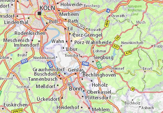 Mappe-Piantine Troisdorf