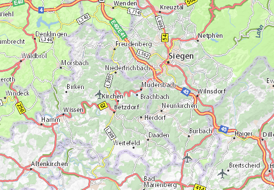 Carte-Plan Brachbach