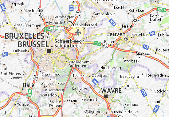 Kaart Plattegrond Tervuren