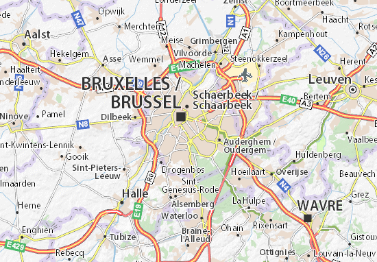 Map of Ixelles Michelin Ixelles map ViaMichelin – Brussels Tourist Attractions Map
