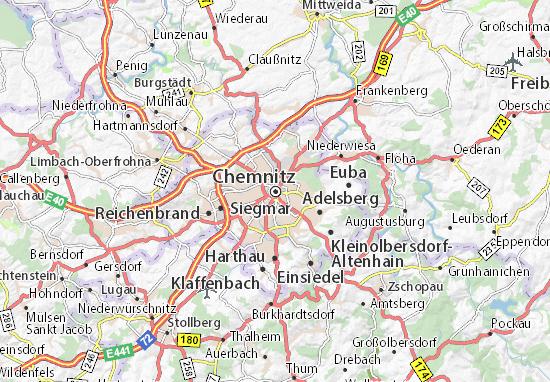 Karte Stadtplan Chemnitz