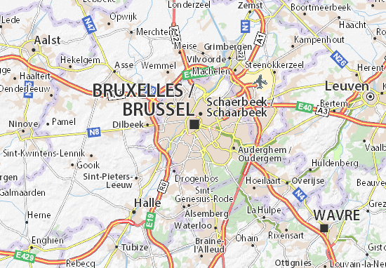Carte-Plan Brussel Wereldstad
