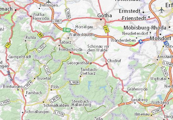 Got Karte.Karte Stadtplan Catterfeld Viamichelin