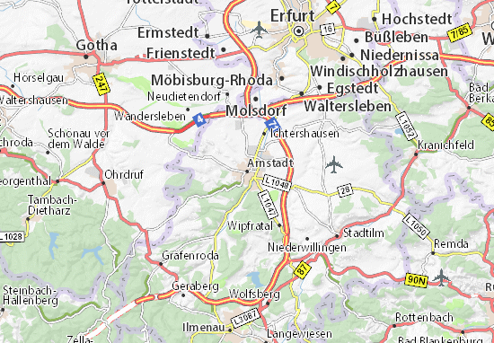 Carte-Plan Arnstadt