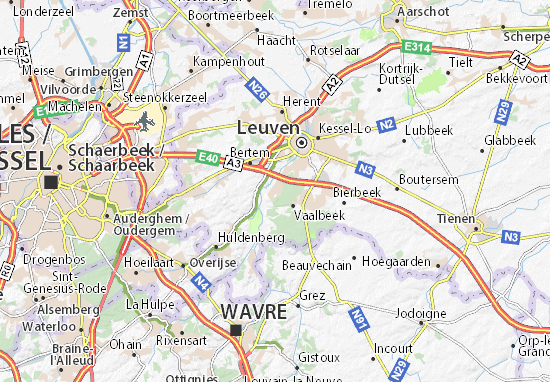 Kaart Plattegrond Oud-Heverlee