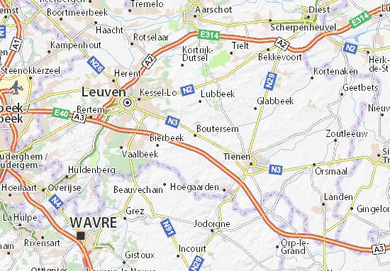 Boutersem Map