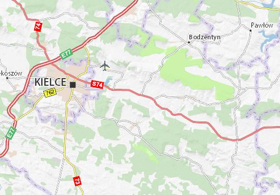 Górno Map