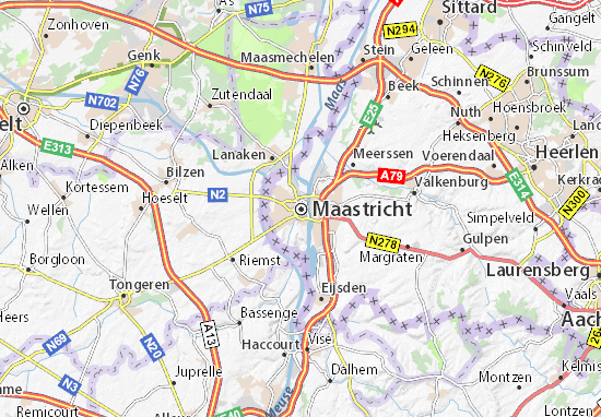 Mapa Plano Maastricht