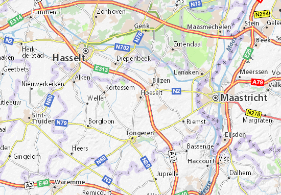 Hoeselt Map