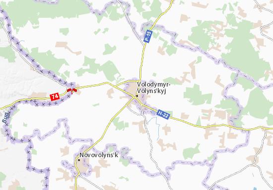 Kaart Plattegrond Volodymyr-Volyns'kyj