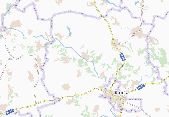 Kaart Plattegrond Rohyntsi