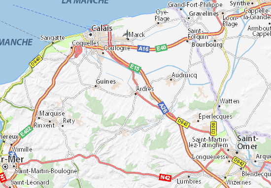 Karte Stadtplan Ardres
