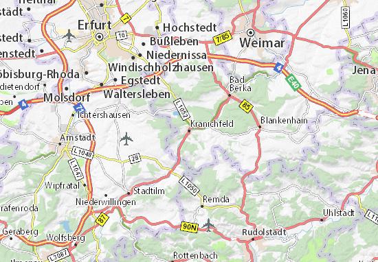 Kranichfeld Map