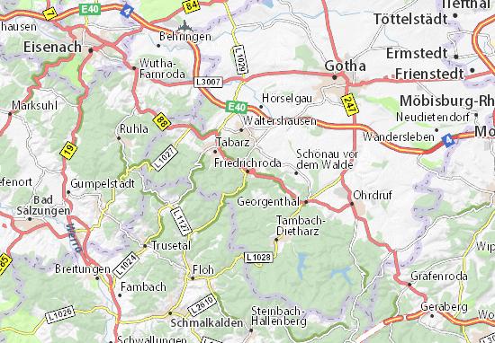Mapa Plano Friedrichroda