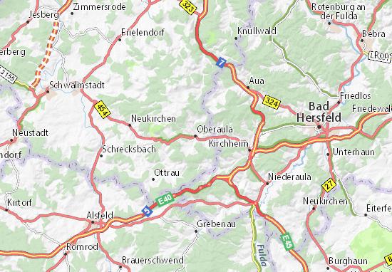 Oberaula Map